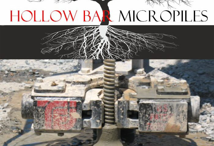 Hollow bar micropiles