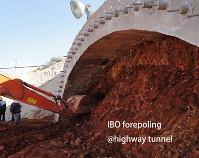 IBO forepoling of highway tunnel