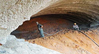 Shotcrete in Tunnel Construction